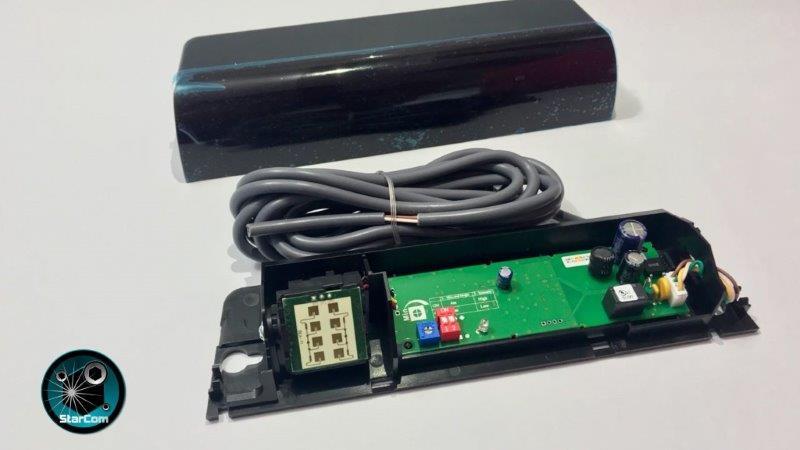 Porta automática de vidro com sensor