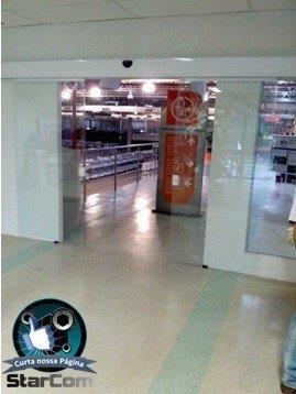 Porta automática de vidro sp
